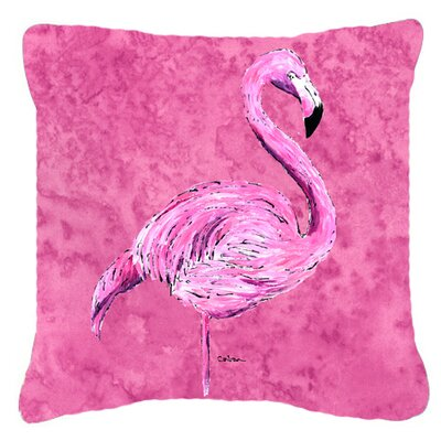 Flamingo Pink Indoor/Outdoor Throw Pillow Size: 14 H x 14 W x 4 D