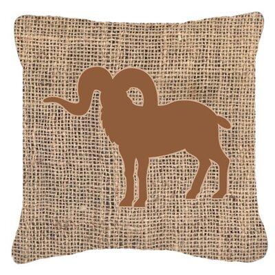 Sheep Burlap Indoor/Outdoor Throw Pillow Size: 14 H x 14 W x 4 D, Color: Brown