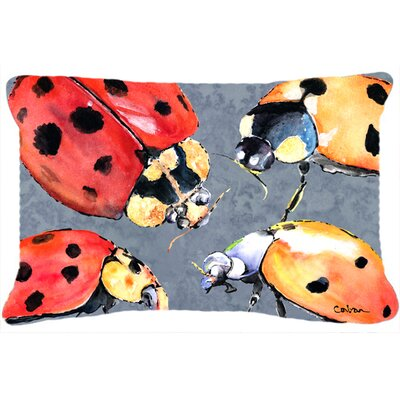 Lady Bugs Indoor/Outdoor Throw Pillow