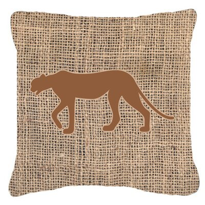 Leopard Burlap Indoor/Outdoor Throw Pillow Size: 18 H x 18 W x 5.5 D, Color: Brown
