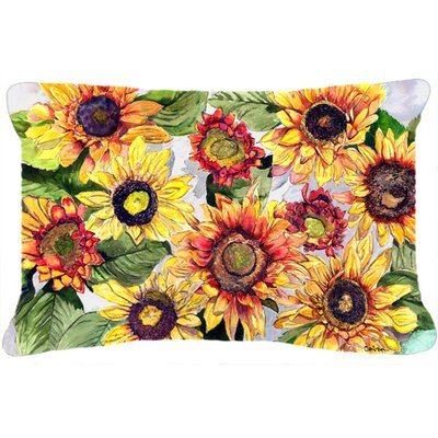 Landon Sunflowers Rectangular Indoor/Outdoor Throw Pillow