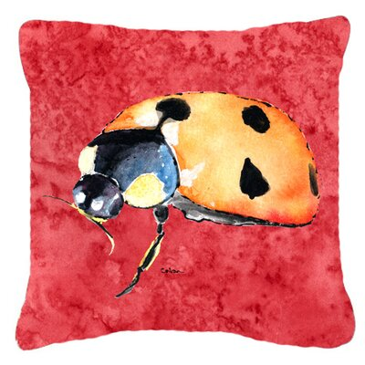 Lady Bug Indoor/Outdoor Throw Pillow Size: 18 H x 18 W x 5.5 D