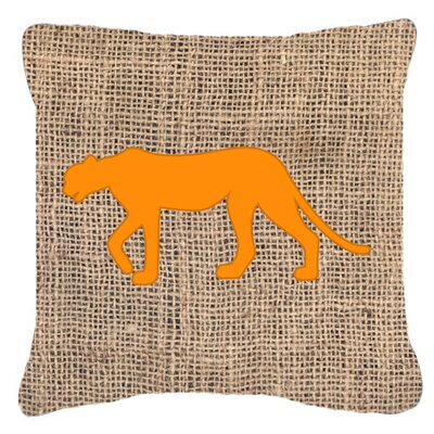 Leopard Burlap Indoor/Outdoor Throw Pillow Size: 18 H x 18 W x 5.5 D, Color: Orange