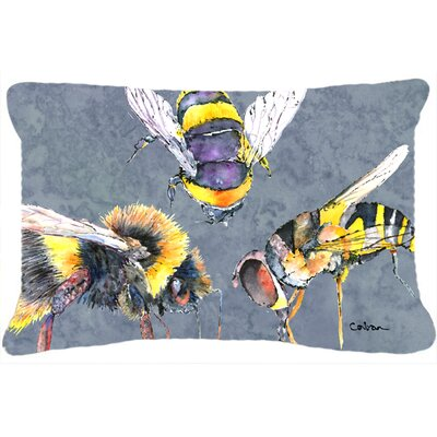 Bees Times Three Indoor/Outdoor Throw Pillow