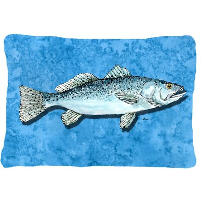 Trout Indoor/Outdoor Throw Pillow