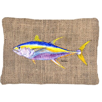 Tuna Indoor/Outdoor Brown Throw Pillow