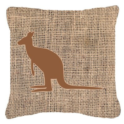 Kangaroo Burlap Indoor/Outdoor Throw Pillow Size: 18 H x 18 W x 5.5 D, Color: Brown