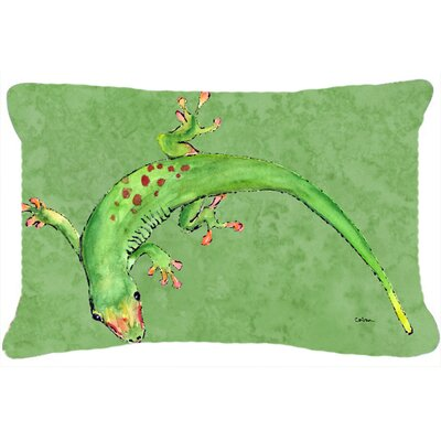 Gecko Indoor/Outdoor Throw Pillow