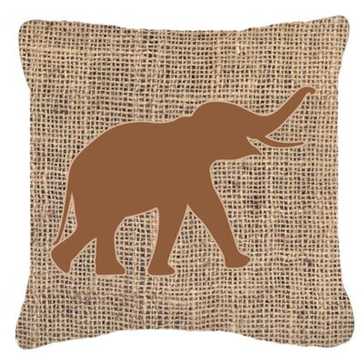 Elephant Indoor/Outdoor Throw Pillow Size: 14 H x 14 W x 4 D, Color: Orange