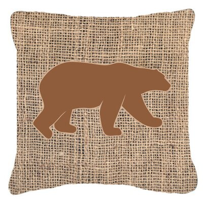 Butterfield Bear Burlap Indoor/Outdoor Throw Pillow Size: 18 H x 18 W x 5.5 D, Color: Brown