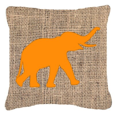 Elephant Indoor/Outdoor Throw Pillow Size: 18 H x 18 W x 5.5 D, Color: Orange