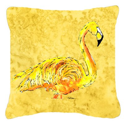 Flamingo Indoor/Outdoor Fabric Throw Pillow Size: 14 H x 14 W x 4 D