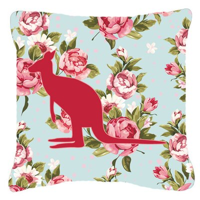 Kangaroo Shabby Elegance Blue Roses Indoor/Outdoor Throw Pillow Size: 14 H x 14 W x 4 D