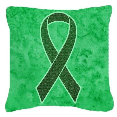 Ribbon for Liver Cancer Awareness Indoor/Outdoor Throw Pillow Size: 14 H x 14 W x 4 D