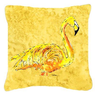 Flamingo Indoor/Outdoor Fabric Throw Pillow Size: 18 H x 18 W x 5.5 D