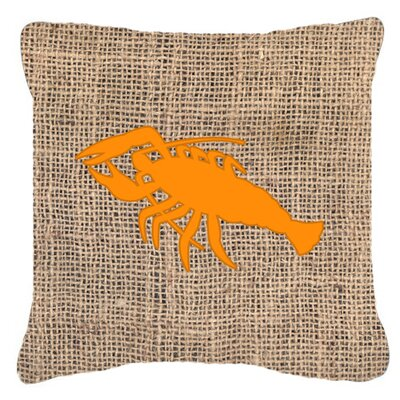Lobster Burlap Indoor/Outdoor Throw Pillow Size: 18