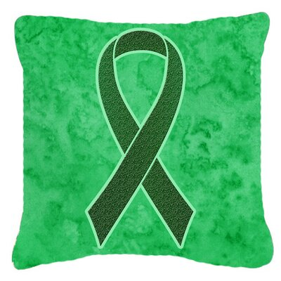 Ribbon for Liver Cancer Awareness Indoor/Outdoor Throw Pillow Size: 18 H x 18 W x 5.5 D
