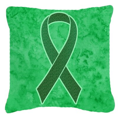 Ribbon for Kidney Cancer Awareness Indoor/Outdoor Throw Pillow Size: 18 H x 18 W x 5.5 D