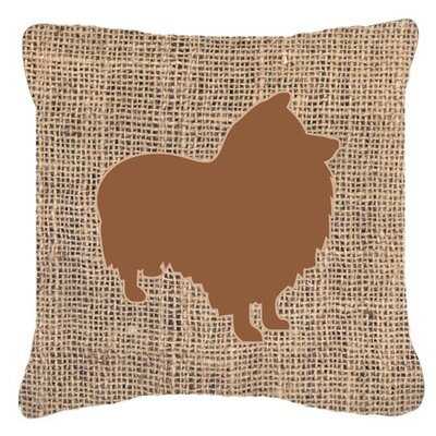 Sheltie Burlap Indoor/Outdoor Throw Pillow Size: 14 H x 14 W x 4 D, Color: Brown