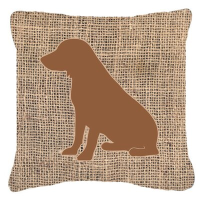 Boykin Spaniel Burlap Indoor/Outdoor Throw Pillow Color: Brown, Size: 14 H x 14 W x 4 D