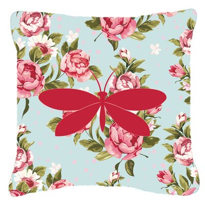 Moth Shabby Elegance Blue Roses Indoor/Outdoor Throw Pillow Size: 14 H x 14 W x 4 D