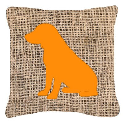 Boykin Spaniel Burlap Indoor/Outdoor Throw Pillow Size: 14 H x 14 W x 4 D, Color: Orange