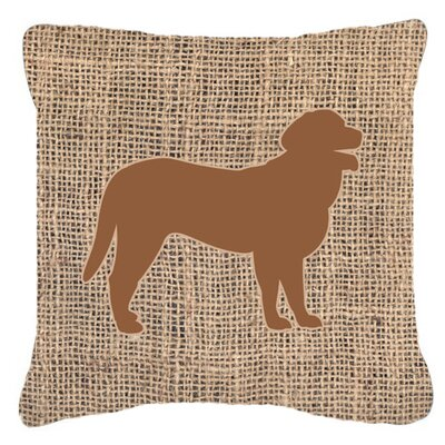 Curly Coated Retriever Burlap Indoor/Outdoor Throw Pillow Size: 14 H x 14 W x 4 D, Color: Brown