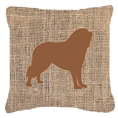 Tibetial Mastiff Burlap Indoor/Outdoor Throw Pillow Size: 18 H x 18 W x 5.5 D, Color: Brown