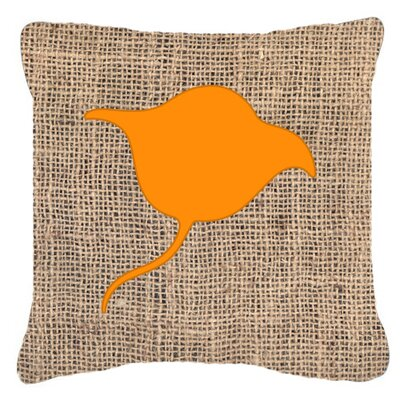 Stingray Burlap Indoor/Outdoor Throw Pillow Size: 14 H x 14 W x 4 D, Color: Orange