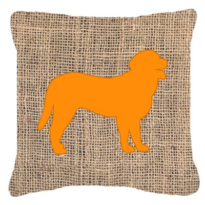 Curly Coated Retriever Burlap Indoor/Outdoor Throw Pillow Size: 14 H x 14 W x 4 D, Color: Orange
