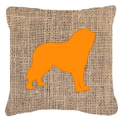 Tibetial Mastiff Burlap Indoor/Outdoor Throw Pillow Size: 14 H x 14 W x 4 D, Color: Orange