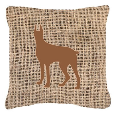Great Dane Burlap Indoor/Outdoor Throw Pillow Size: 14 H x 14 W x 4 D, Color: Brown
