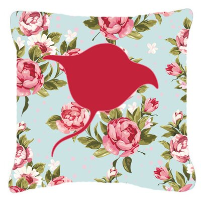 Stingray Shabby Elegance Blue Roses Indoor/Outdoor Throw Pillow BB1094-RS-BU-PW1818