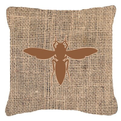 Yellow Jacket Burlap Indoor/Outdoor Throw Pillow Size: 14 H x 14 W x 4 D, Color: Brown