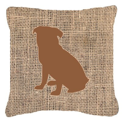 Pug Burlap Indoor/Outdoor Throw Pillow Size: 18 H x 18 W x 5.5 D, Color: Brown