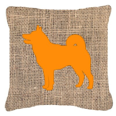 Shiba Inu Burlap Indoor/Outdoor Throw Pillow Size: 18 H x 18 W x 5.5 D, Color: Orange