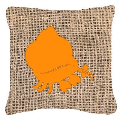 Hermit Crab Burlap Indoor/Outdoor Throw Pillow Size: 18 H x 18 W x 5.5 D, Color: Orange