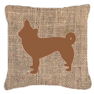 Chihuahua Burlap Square Indoor/Outdoor Throw Pillow Size: 14 H x 14 W x 4 D, Color: Brown