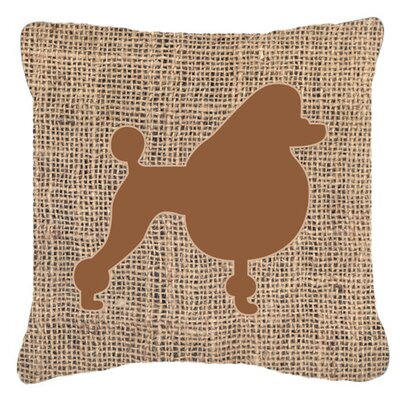 Poodle Burlap Indoor/Outdoor Throw Pillow Size: 14 H x 14 W x 4 D, Color: Brown
