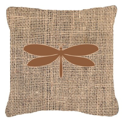 Moth Burlap Indoor/Outdoor Throw Pillow Size: 18 H x 18 W x 5.5 D, Color: Brown