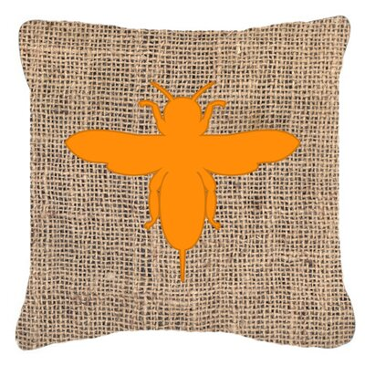 Jesse Bee Burlap Indoor/Outdoor Throw Pillow Size: 18 H x 18 W x 5.5 D, Color: Orange