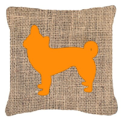 Chihuahua Burlap Square Indoor/Outdoor Throw Pillow Size: 14 H x 14 W x 4 D, Color: Orange