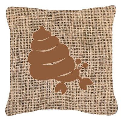 Hermit Crab Burlap Indoor/Outdoor Throw Pillow Size: 18 H x 18 W x 5.5 D, Color: Brown