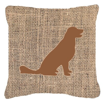 Labrador Burlap Indoor/Outdoor Throw Pillow Size: 18 H x 18 W x 5.5 D, Color: Brown
