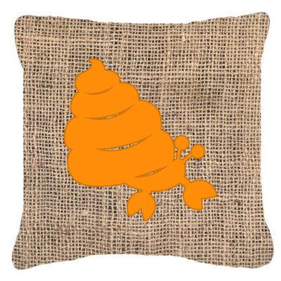 Hermit Crab Burlap Indoor/Outdoor Throw Pillow Size: 14 H x 14 W x 4 D, Color: Orange
