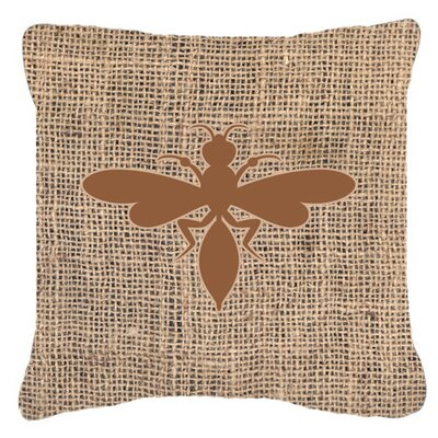 Wasp Burlap Indoor/Outdoor Throw Pillow Size: 18 H x 18 W x 5.5 D, Color: Brown