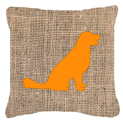 Labrador Burlap Indoor/Outdoor Throw Pillow Size: 18 H x 18 W x 5.5 D, Color: Orange