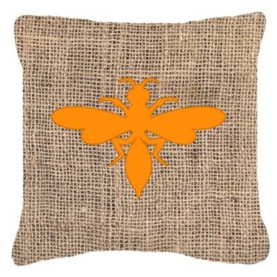Wasp Burlap Indoor/Outdoor Throw Pillow Size: 14 H x 14 W x 4 D, Color: Orange