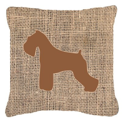 Schnauzer Burlap Indoor/Outdoor Throw Pillow Size: 14 H x 14 W x 4 D, Color: Brown