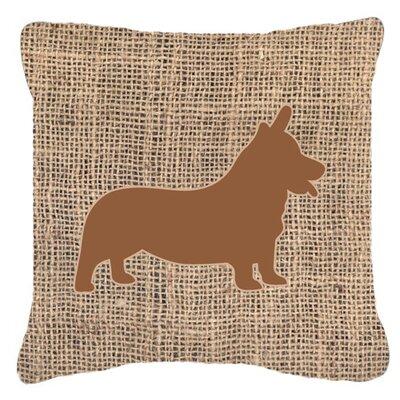 Corgi Burlap Indoor/Outdoor Throw Pillow Size: 14 H x 14 W x 4 D, Color: Brown